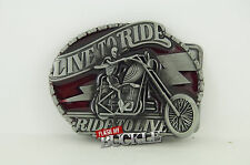 Live to Ride Biker Belt Buckle and available with belt