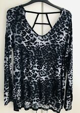Urban Outfitters Blue Animal Print Detailed Back Loose Top BNWT UK XS S M £28