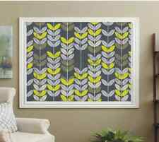 BLACKOUT PATTERNED ROLLER BLINDS, LIME AND GREY LEAFS, FREE SAMPLES AVAILABLE