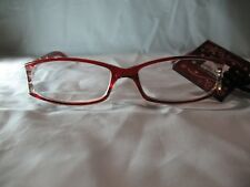 Foster Grant Holland Red Star Reading Glasses w/ Case 1.25 2.00 2.50 2.75