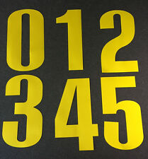 """New OREGON DUCKS Yellow 8"""" Tall Iron-On JERSEY NUMBERS for Football / Basketball"""
