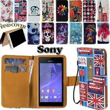 Folio Flip Leather Stand Card Wallet Magnetic Cover Case For Sony Xperia Phones