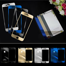 Color Mirror Tempered Glass Film Front &Back Screen Protector for iPhone 6/ Plus