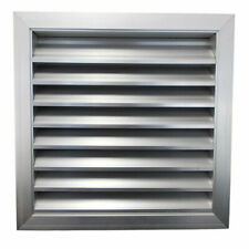 Weather Fixed Louvre Extractor Fan Ventilation Grille Aluminium with Bird Mesh