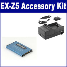SDNP20 Battery & Charger High Power Replacement kit for Casio NP20 Battery
