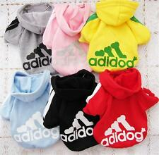 New Pet Puppy Clothes Coat Cat Dog HOODIE Sweater Clothes Costume Jacket 6Colors