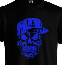 Kids LA Los Angeles Mexican Sugar Skull T shirt Dodgers Los Doyers Yasiel Puig