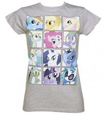 Ladies My Little Pony Friendship Is Magic Faces T-Shirt