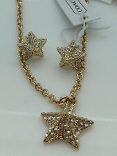 NWT Coach 96343 Pave Pyramid Star Earrings 96340 Pave Pyramid Star Necklace