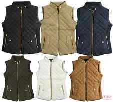 Women's Quilted Padded Vest black/cognac/navy Plus Sizes /XL/2XL/3XL