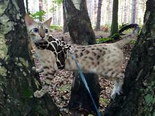 Butterfly Cat Walking Harness Jacket - Faux Fur Animal Print Selection