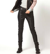 @STUDIO LUXURY NWT £167 Designer URBAN CODE Genuine LEATHER PANT Black