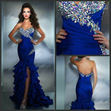 2015 Long Mermaid Formal Prom Dresses Party Evening Pageant Wedding Gown custom