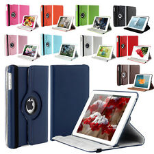 iPad 360 Degree Rotating Leather Wallet Flip Stand Case Cover With Sleep Wake