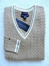 NWT TOMMY HILFIGER WOMENS CABLE V-NECK SWEATER