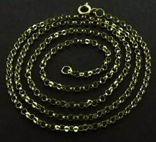 "9CT SOLID YELLOW GOLD 16"" 18"" 20"" ROUND BELCHER CHAIN ROLO LINK PENDANT NECKLACE"