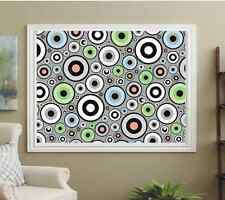 PATTERNED ROLLER BLINDS WHEELS ON GRAY BACKGROUND BLACKOUT & TRANSLUCENT FABRICS
