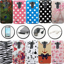 DESIGN / IMAGE PLASTIC COVER SNAP ON CELL PHONE CASE for LG G3 VIGOR + ACCESSORY