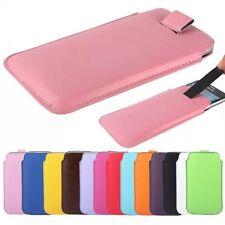 PU Leather PULL Cord TAB Pouch Wallet Bag Skin Cover Case For nokia asha 200