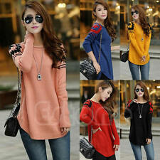 HOT Fashion Women Knitted Long Sleeve Loose Pullover Sweater Knitwear Jumper Top