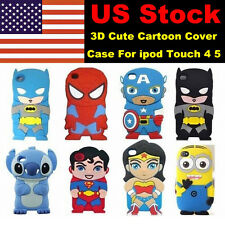 New 3D Cute Cartoon Super Hero Silicone Cover Case For ipod Touch 4 4th 5th Gen