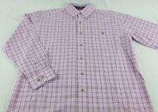 Mens Wrangler George Strait Edition Western Long Sleeve Purple Plaid Shirt Sz M