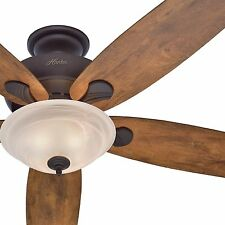 """Hunter 60"""" Bronze Great Room Ceiling Fan with Light - Optional Remote Control"""