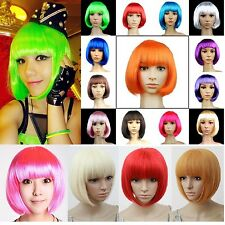 Fashion Hobo Womens Girls BOB Short Straight Wig Cosplay Full Wigs Party Games