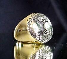 ANCIENT ROUND BRONZE RING CELTIC TREE OF LIFE ESOTHERIC ANTIQUED ANY SIZE