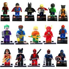 CHOOSE UR FAVOURITE CUSTOM MARVEL ACTION FIGURES WITH REMOVABLE STAND FITS LEGO