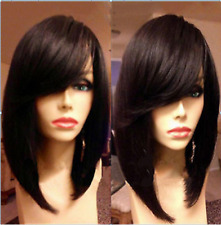 "12""100% remy human hair Short straight bob Fashion full lace wigs/lace front wig"