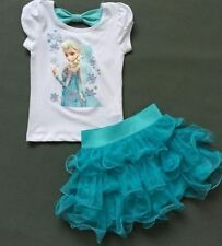 Frozen filles Disney Princess Elsa Bleu Cosplay Costume Party Fantaisie Robes