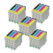 20 INK CARTRIDGES REPLACE FOR EPSON COLOUR INKJET PRINTERS