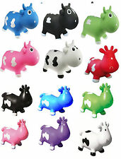 KidZZfarm animal inflatable Bouncer Hopper Betsy or Bella cow - all colours