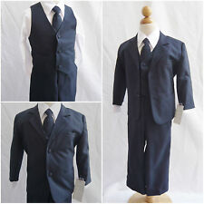 Cute Boy Navy Dark blue toddler youth teen wedding graduation party formal suit