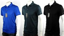 Armani Exchange A X Men's Textured Knitted Striped Polo Shirt/Top