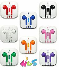 Earphones Earbud Headset Headphone with Mic for Apple iPhone 5 iphone 6 iPod 3.5
