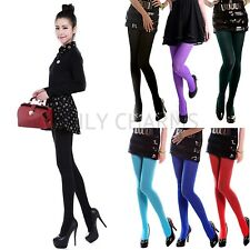Women's Sexy Fashion Footed Thick Opaque Stockings Pantyhose Solid Color Tights