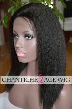 Cheap Italian Yaki Wig 5A Indian Remy Lace Front Wigs Coarse Yaki Black Women