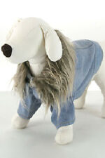 Denim Dog Jacket with Faux Fur Collar, NWT The 5th Ave Pet Collection