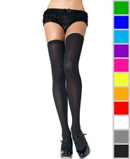New Leg Avenue 6672Q Plus Size Opaque Knit Over Knee Thigh High Stockings