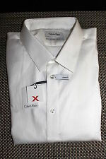 CALVIN KLEIN MENS EXTREME SLIM FIT DESIGNER DRESS SHIRT 2 SIZES RP $69.50 NWT
