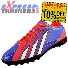 Adidas Junior Kids Boys F5 TRX Turf Football Trainers Blue Purple * AUTHENTIC *