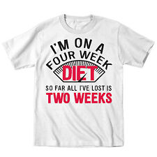 On A 4 Week Diet All I've Lost Is 2 Weeks Funny New Years Resolution Mens Shirt
