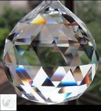 Crystal Prism 30MM 40MM Feng Shui Clear Faceted Hanging Glass Ball Sun Catcher