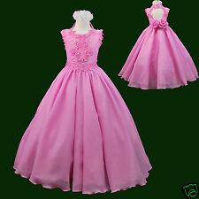 Girl National Glitz Pageant Wedding Party Formal Dress Fuchsia Pink 3,4,5,6,7-14