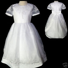 New Girl Wedding Flower Girl 1st Communion Wedding Dress White 5 6 7 8 10 12 14