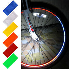 Fluorescent MTB Bike Bicycle Cycling Wheel Rim Reflective Stickers Decal Fashion