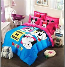 *** Goofy and Mickey Mouse Queen Bed Quilt Cover Set - Flat or Fitted Sheet ***
