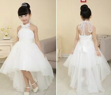 Girls Ivory Flower/Bridesmaid/Party/Prom/Wedding/Christening Dress Kids Dresses